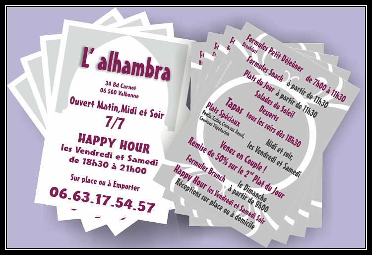 flyer personnalise recto verso